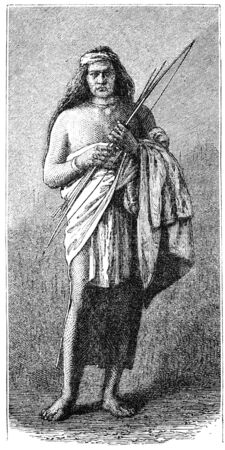 public domain: Apache native american  warrior. Illustration originally published in Ernst von Hesse-Warteggs Nord Amerika, swedish edition published in 1880. The image is currently in Public domain by virtue of age.