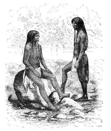 public domain: Navajo native americans in Arizona. Illustration originally published in Ernst von Hesse-Warteggs Nord Amerika, swedish edition published in 1880. The image is currently in Public domain by virtue of age.