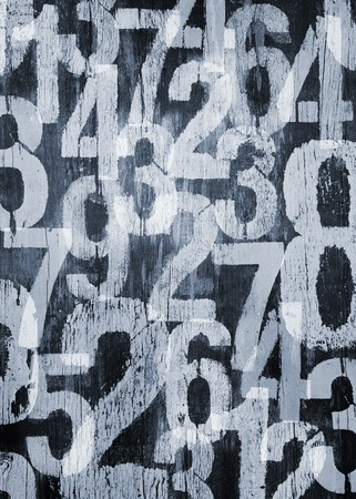 Background texture with photomanipulated worn and distressed numbers photo