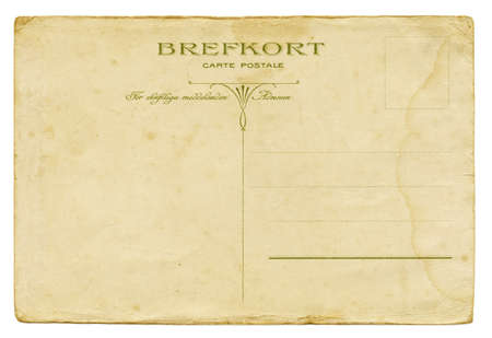 post card: Backside of a vintage Swedish post card from circa 1900.