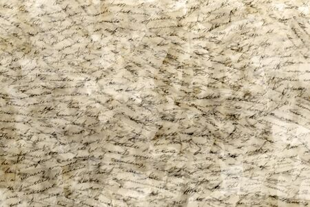 meaningless: Handwritten text in many layers background texture