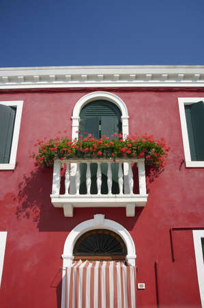 Colourful house on Burano island. Burano is an island in the Venetian Lagoon, northern Italy Stock Photo - 9898256