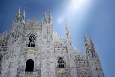 Milan Duomo cathedral in sunlight. Stock Photo - 9898257