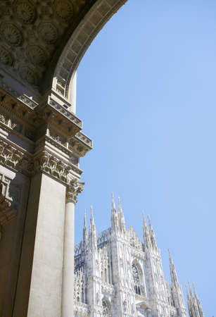 Milano Duomo cathedral and the arch of Galleria Vittorio Emanuele II. Stock Photo - 9898249
