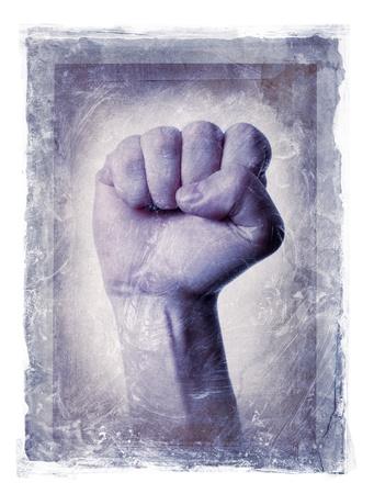 photomanipulation: Grunge dirty photomanipulation of a fisted hand.