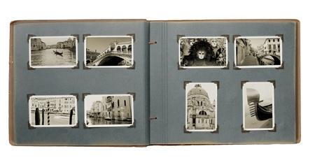 Ancien album photo avec des (nouveaux) des photos de Venise, Italie.