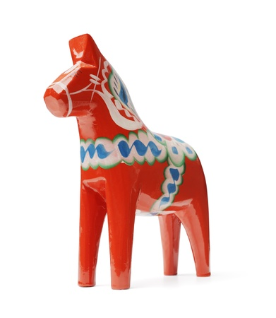 A Hand-made traditional wooden Dalecarlian Horse (Dalahast) is a symbol of Swedish Dalarna and Sweden in general.