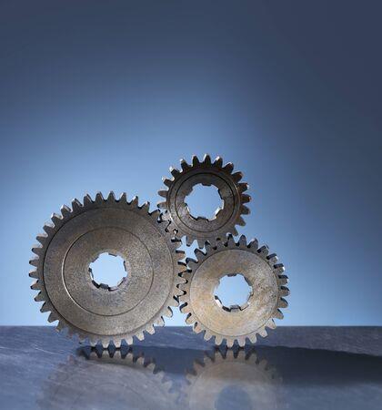 Three old cog gear wheels. Stock Photo - 12713430