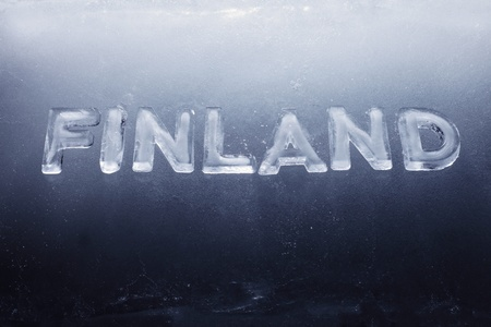 Word Finland written with real ice letters. Stock Photo - 12956464