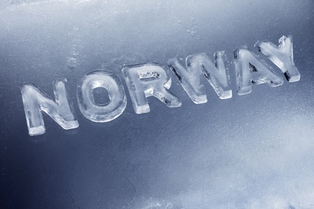 Word Norway written with letters made of real ice. Stock Photo - 12956473