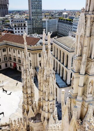 A View from the roof of the Milan Cathedral, Milan, Lombardy, Italy. photo
