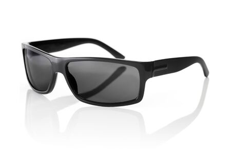 sunglasses reflection: A Pair of quality Sunglasses on white with natural reflection.