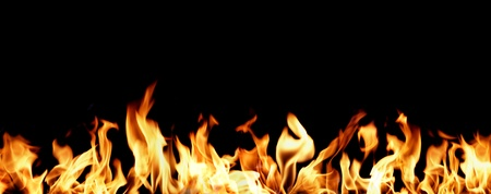 Panoramic image with fire flames in the lower part. Stock Photo - 13471813