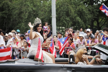 puerto rican: NEW YORK CITY, USA - JUNE 10  The annual Puerto Rican Day Parade in NYC honoring the inhabitants of Puerto Rico and all people of Puerto Rican birth or heritage  June 10, 2012 in New York City, USA Editorial