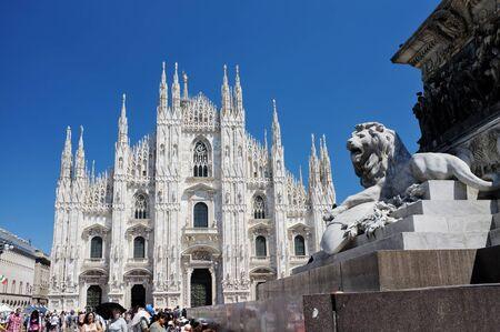 MILAN, LOMBARDY, ITALY - MAY 28: Exterior of Milan Duomo Cathedral. May 28, 2011 in Milan, Lombardy, Italy Stock Photo - 14146118