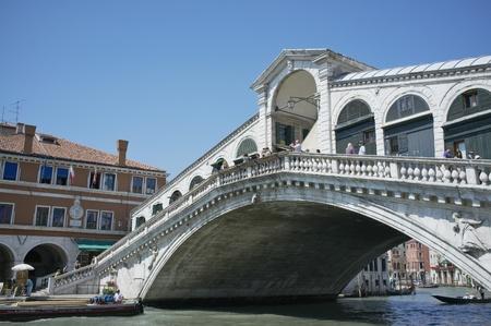 VENICE, VENETO, ITALY - MAY 24, 2011: Famous Rialto bridge on Grand Canal. May 24, 2011 in Venice, Veneto, Italy Stock Photo - 14146110