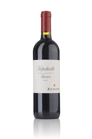 Finland - 30 January, 2011: A Bottle of Italian Red Wine, Zenato Valpolicella Superiore 2008.