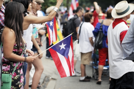 puerto rican: NEW YORK CITY, USA - JUNE 10: The annual Puerto Rican Day Parade in NYC honoring the inhabitants of Puerto Rico and all people of Puerto Rican birth or heritage. June 10, 2012 in New York City, USA
