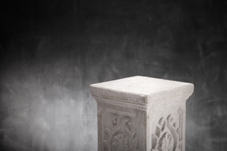 nothing: A Plaster column with nothing on top. Stock Photo