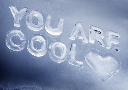 You Are Cool  written with real ice letters  Stock Photo - 14267792