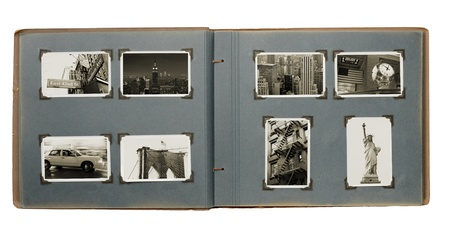 Old album with (new) photos from Manhattan, New York City, USA. Standard-Bild