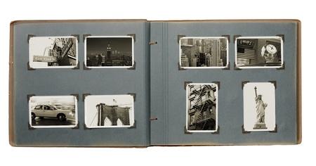Vieil album avec (nouveau) Photos de Manhattan, New York City, USA.