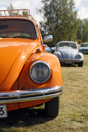 NYKARLEBY, FINLAND - AUGUST 19: The Volkswagen Beetle, officially called the Volkswagen Type 1, is an economy car produced by the German auto maker Volkswagen. August 19, 2006 in Nykarleby, Finland