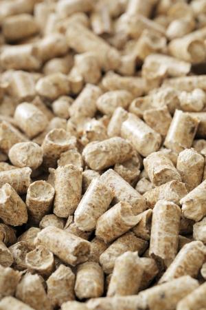 wood pellets: Alternative fuel. Wood pellets made from industrial wood waste. Stock Photo
