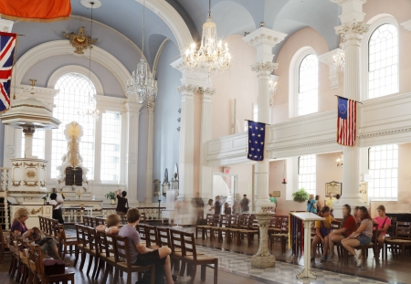 NEW YORK CITY, USA - JUNE 11: St. Paul's Chapel, is an Episcopal chapel in lower Manhattan in New York City. It is the oldest surviving church building in Manhattan. June 11, 2012 in New York City, USA Stock Photo - 15453100