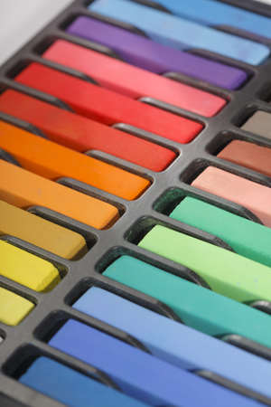 boxed: New artists soft pastels in different colors. Stock Photo