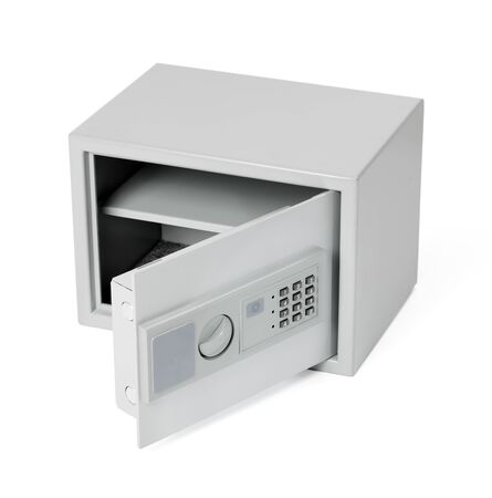 Small safe for home and office use, with digital lock. photo