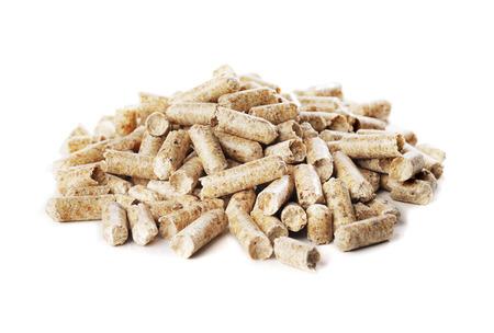 Alternative fuel: Wood pellets made of sawmill waste.