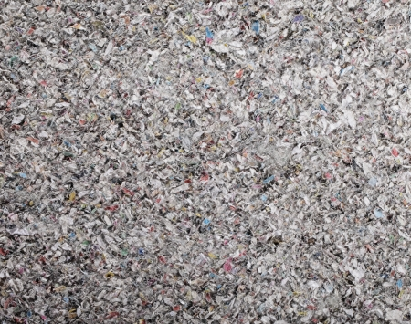 insulation: Closeup of cellulose insulation batt panel, made of recycled newspapers, used as building thermal insulation