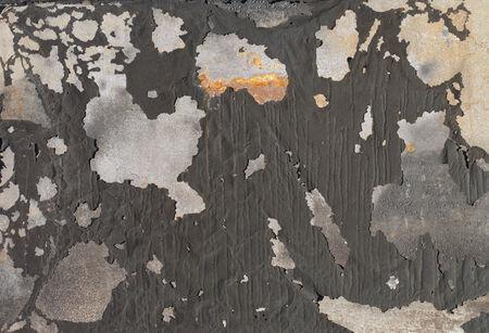 flaking: Background image of old flaking paint on metallic surface.