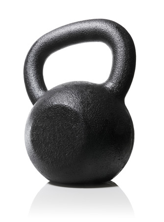 cutout: Rough and tough heavy kettlebell made of cast iron.