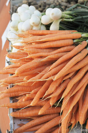 market place: Carrots for sale on a market place.