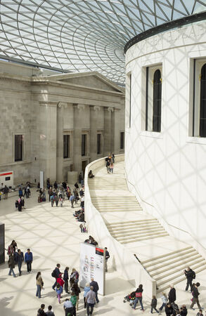 LONDON, UK – APRIL 15, 2014: The centre of the British Museum was redeveloped in 2001 to become the Great Court.
