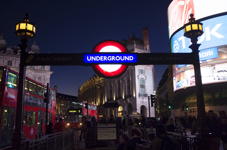 piccadilly: LONDON, UK – APRIL 16, 2014: Piccadilly Circus underground station. Editorial