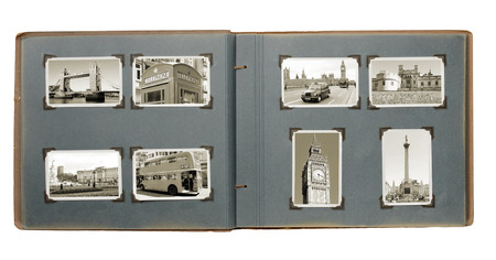 old photo album: Old Photo album with images from London.  Editorial