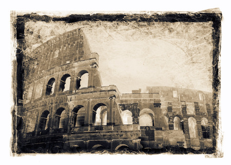 gritty: Grainy and gritty image of Colosseum, Rome, Italy.