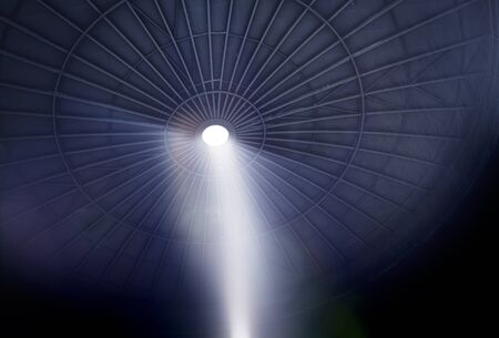 Metallic structure background with a beam of light.