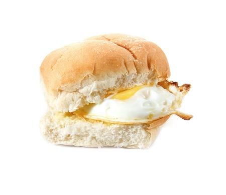 bap: Fried Egg filled bread roll, bap or bun