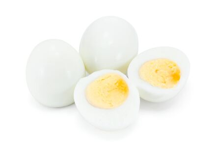 hard boiled: Hard boiled eggs isolated on white