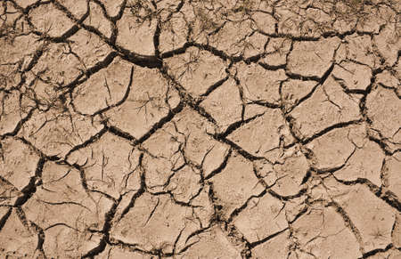 rainfall: Cracked earth a sympton of Drought from poor rainfall in the summer Stock Photo