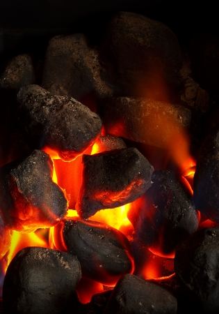 Cose up of an imitation solid fuel fire powered by mains gas supply Stock Photo - 14255311