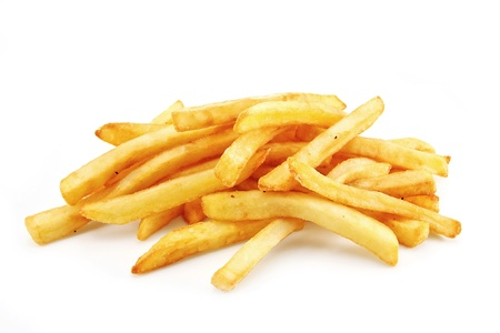 fries: French Fries or Chips originally called pommes frites and more recently named freedom fries in america