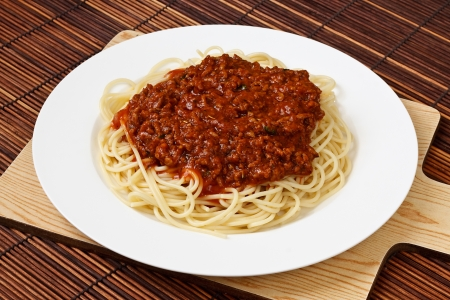 bolognese: Spaghetti Bolognese Classic Italian food and a popular dinner dish around the world