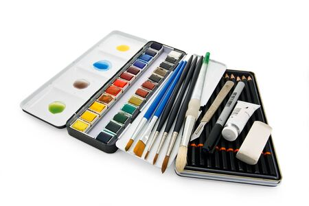 sable: Arstists watercolor paint brushes, paints and equipment