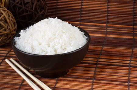 Bowl of boiled rice a popular accompaniment with oriental food Stock Photo - 15301866