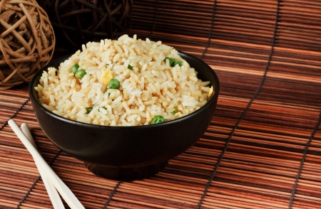 Bowl of egg fried rice an excellent side order with chinese food Stock Photo - 15301867